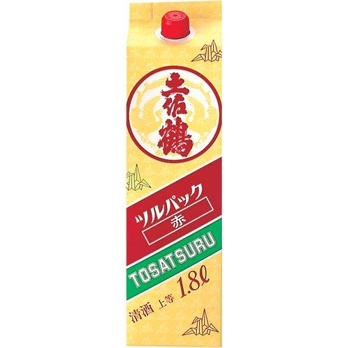 土佐鶴 ツルパック 赤 [ 日本酒 高知県 1800ml ]