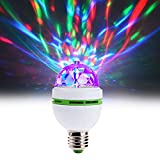 LED Ball Bulb Lamp, Northbear 3W E27 LED RGB Crystal Rotating Stage Bulb Voice Auto Rotating Stage Light