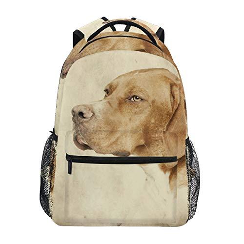 Vintage English Pointer Hunter Hund Rucksack Schultasche Reisen Daypack Rucksack für Studenten Jungen Mädchen Laptop Rucksack