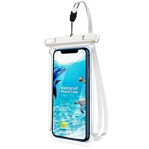 BXing, Funda Impermeable para Nadar, para teléfono, bajo el Agua, Nieve, Selva, Transparente, Bolsa Seca, Bolsa Grande para teléfono móvil sellada
