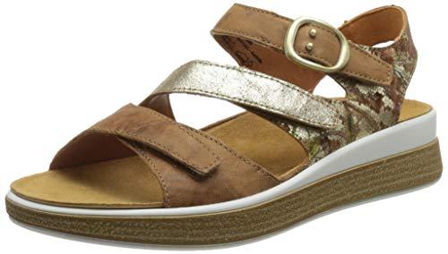 THINK! Damen Meggie_3-000252 nachhaltige Wechselfußbett Slingback Sandale, 3000 Oak/Kombi, 41 EU