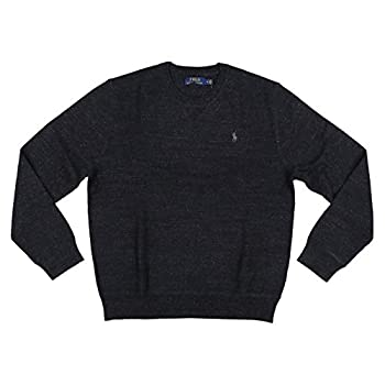 Polo Ralph Lauren Mens Crew Neck Pullover Sweater  Small Black Heather
