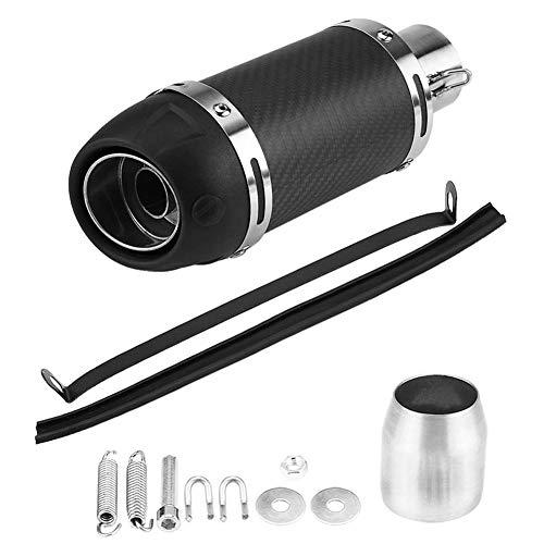 Pasamer 51mm Tubo de silenciador de Escape Universal Moto Modificado Tubo de silenciador de Escape de Fibra de Carbono Mate Real con DB Killer