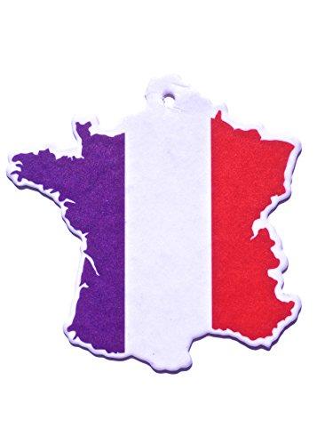 Désodorisant voiture car fresh drapeau France odour New Car air freshener