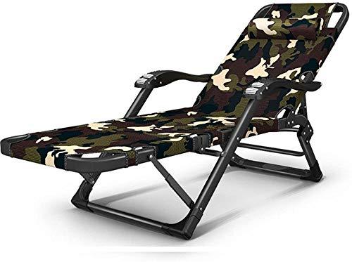 Silla reclinable de verano plegable ajustable para el almuerzo, respaldo perezoso, palanca para el hogar, 15 camas multifuncionales, silla Siesta, silla de playa (tamaño: tubo de 4020 mm)