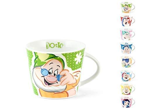 dasavino Set 8 Tazze da Te' Originali Disney Biancaneve E I 7 Nani Nuovo Decoro