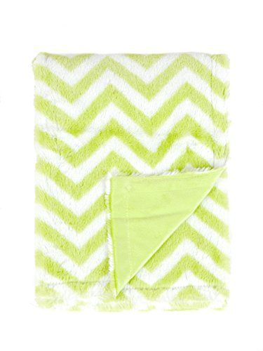 Tadpoles Sleeping Partners Chevron Print Blanket, Green/White