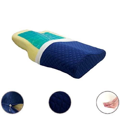 AOACD Almohada Viscoelastica Gel Fresco Reversible, Soporte ortopédico Suave y cómodo, Almohada Cervical de Apoyo y Almohada de Cama