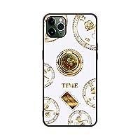 For iPhone 11ダイヤモンド携帯電話ケースFor iPhone 12クロックスタンドXSMax / xrラグジュアリー7 / 8plusに適しています-【ダイヤモンド入りカメリア時計】エレガントなホワイトシングルシェル-iPhone 11PRO max