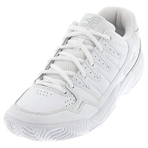 Fila Zapato de Pickleball de doble rebote para mujer, (blanco, plateado (White/Highrise/Metallic Silver)), 36.5 EU
