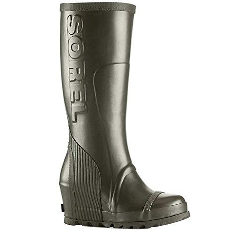 Sorel Joan Rain Wedge Tall Boot - Women's Nori/Black 10.5
