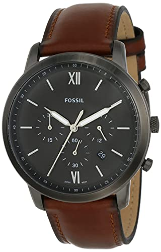 Fossil Men's Minimalist Quartz Leather Casual Watch Watch,...