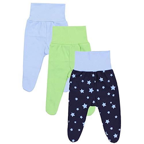 TupTam TupTam Baby Jungen Strampelhose mit Fuß 3er Pack, Farbe: Farbenmix 2, Größe: 56