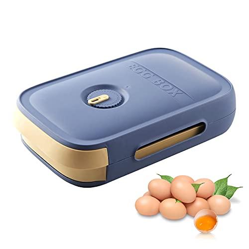 RoxNvm Scatola porta uova, Contenitore per uova frigorifero, Cassetto porta uova, porta uova grande, porta uova portaoggetti, porta uova per armadio da cucina frigorifero (blu)