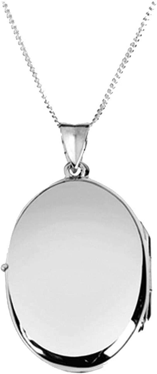 Orton West Womens Plain Oval Locket  Silver