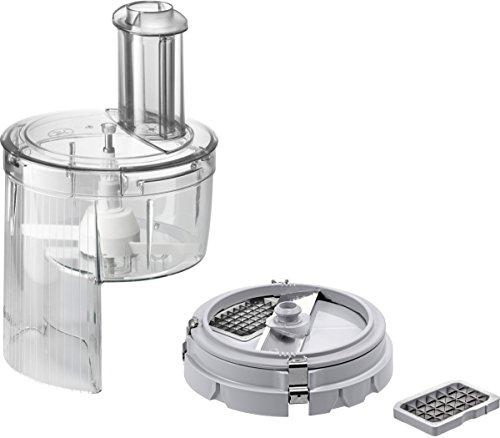 Bosch MUZ8CC2 Würfelschneider zum Schneiden in gleichmäßige Würfel mit zwei Größen (z.B. Obst und Gemüse) für Küchenmaschinen MUMXL, MUMXX und MUM8