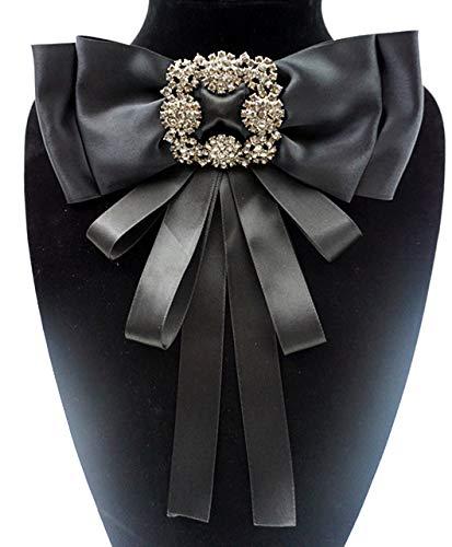 Black Ribbon Brooch pins for Wom...