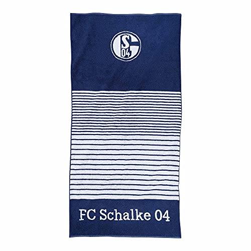 FC Schalke 04 Duschtuch Streifen Marine Fanartikel