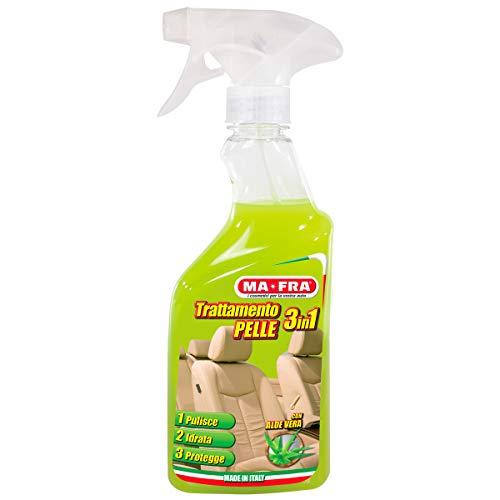 Mafra HN059 3-in-1 leerbehandeling, reinigt, hydrateert en beschermt de oppervlakken van auto-passagiersruimten, met aloë vera en natuurlijke was, voorkomt rimpels en scheuren, hoeveelheid 500 ml