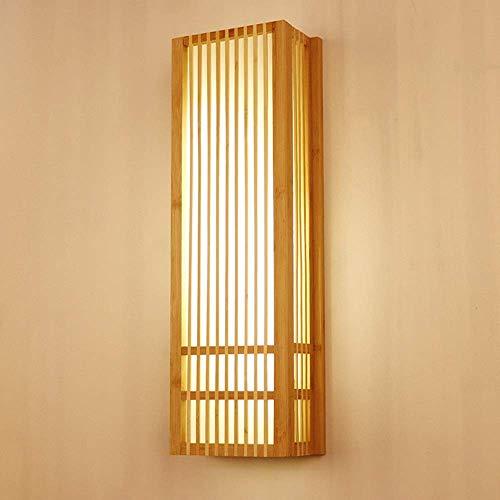 CLJ-LJ Alto sabor nórdico simple creativo lámpara de pared cabecera rectangular bambú iluminación lámparas 10-15 dormitorio cuadrado estudio sala pasillo de alto gusto