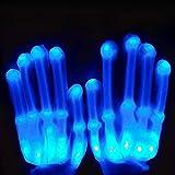 Yuccer Guantes con Iluminación LED Gloves Coloridos Rave Guantes para Halloween...