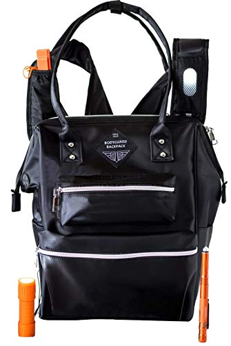 WOMENS BACKPACK 24-Features + Built-in Personal Safety Gear. Tech Ready, Laptop Bag For Women Is The Best Travel Backpack Tote To Carry On (Anti Theft Design) Bodyguard Backpack A Superior Gift Choice