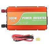 Nannday Invertitore di Potenza per Auto, Inverter di Tensione Solare per Auto da 300 W Inverter a Onda sinusoidale Pura ad Alta frequenza Tensione di Uscita 110V(24V)