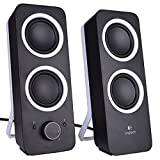 Logitech Z200 2-Piece 2 Channel Speaker System Headphone & Aux Jacks Black Consumer Electronics