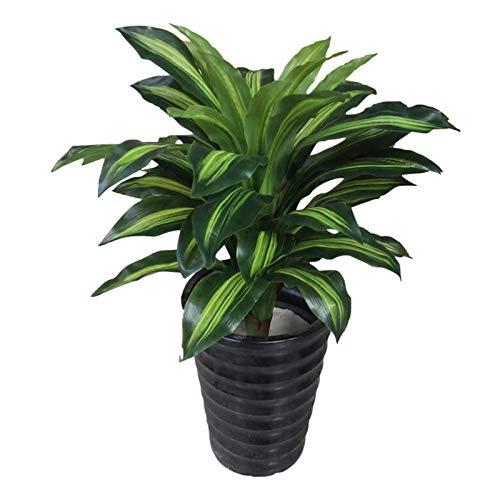 Realista Plantas Artificiales Árbol artificial 27,6 pulgadas falso de las plantas de interior Plantas de Lyrata Ficus Decoración de imitación en bote for hogar de la casa jardín de la oficina moderna