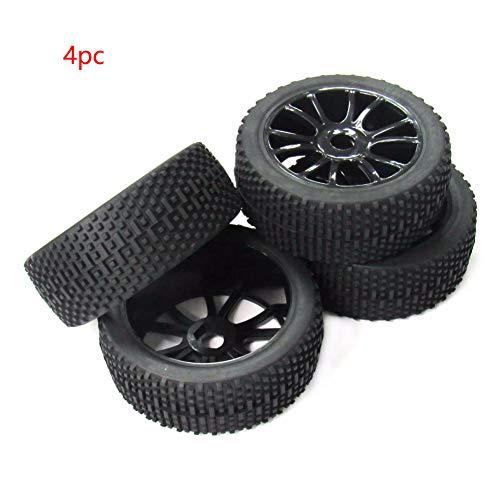Almabner 1:8 RC Buggy Reifen 4 Stück 17 mm Nabe Gummi Vollrad Reifen Hohl Schwarz Offroad Auto Reifen, Wie abgebildet, 4 pcs