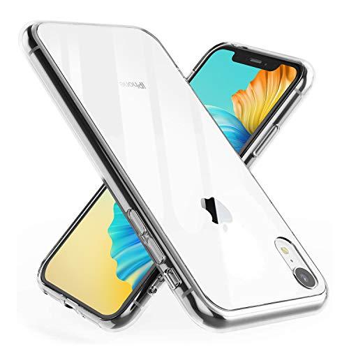 Hülle Kompatibel mit iPhone XR, Vergilbungsfrei, Äußerst Kratzfest, Soft TPU Frame, Unzerstörbar Stoßfestigkeit, Slim Dünn Handyhülle für iPhone XR, Transparent