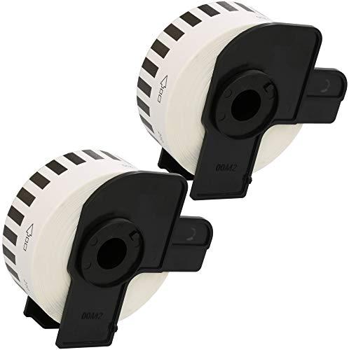 Prestige Cartridge 2x DK22214 12mm x 30.48m Endlos-Etiketten kompatibel für Brother P-Touch QL-500 QL-550 QL-560 QL-570 QL-580 QL-700 QL-720 QL-800 QL-810 QL-820 QL-1050 QL-1060 QL-1100 QL-1110