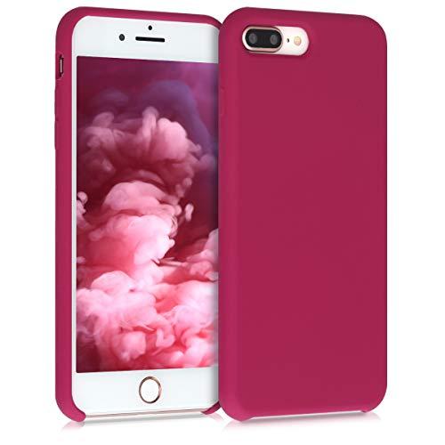 kwmobile Funda Compatible con Apple iPhone 7 Plus / 8 Plus - Carcasa de TPU para móvil - Cover Trasero en Rojo Granada