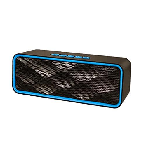 Baoblaze Altavoz Bluetooth Recargable HD Sonido ABOERING Bass USB AUX AUX Incorporado Mic Altavoces para Exteriores para Party Indoors Smartphones Manos Libres - Azul