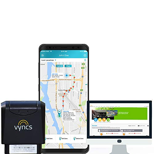 GPS Tracker VyncsMo, 3G Car GPS Tracking, USA and More Than 177 Countries, 24/7 Roadside Emergency Assistance, Location Tracker, OBD GPS Tracker for Vehicles, Connected Car Services, Alexa Support