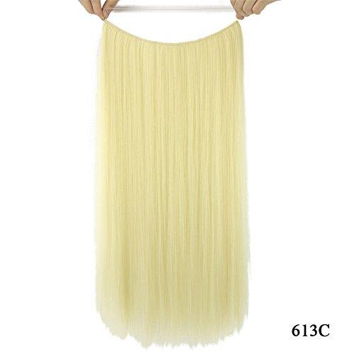 Sythetic droites Extensions de cheveux Halo – Remeehi fils Style sans clip Sans Bande 28 cm Poisson Ligne extension 61 cm 80 g (613 C)
