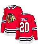 Seabrook # 7 Crawford # 50 SAAD # 20 Keith # 2 Jersey de Hockey sobre Hielo LHN Sudaderas para Hombre Camiseta para Mujer Ropa Secado rápido Aficionado al Hockey Sudaderas Deportivas Transpirables J