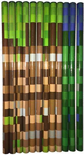 SDM HB-Bleistifte, Camouflage-/Pixel-Design, ideal als Partytütenfüller, Geschenk für Schüler und Kinder, 12 Stück