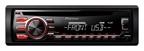 Pioneer DEH-1700UB - Radio CD con RDS para coches de 4x50 W para Android 4.0, negro