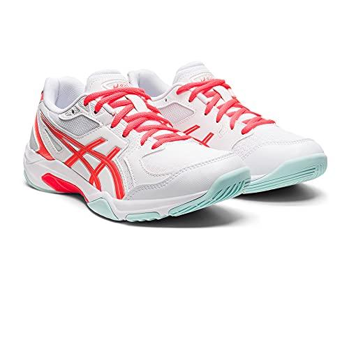 Asics Gel-Rocket 10, Volleyball Shoe Mujer, White/Sunrise Red, 40.5 EU