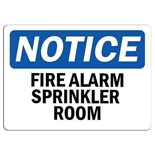 Señal de advertencia de alarma de incendios para habitación privada, señal de advertencia de metal para el hogar, al aire libre, letrero de precaución para decoración de habitación, garaje, 20 x 30 cm