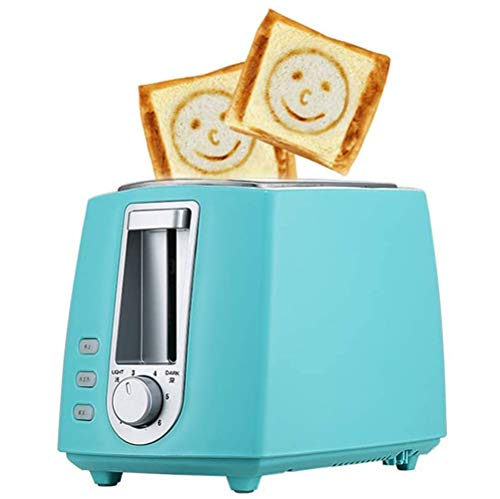 VIVICL Automatische Edelstahl Brotmaschine Elektrische Multifunktionale 2 Scheiben Toaster Haushaltsbacken Brotbackmaschine Frühstücksmaschine Toast Sandwich Grillofen,Blau