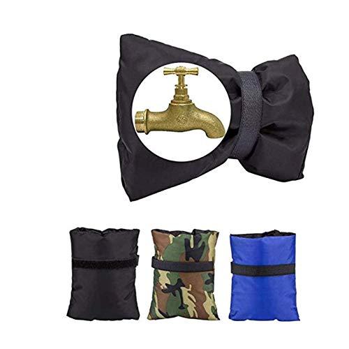 Paquete de 3 fundas para grifos de invierno, impermeables, para manguera de jardín, calcetines aislantes para protección de congelación de invierno