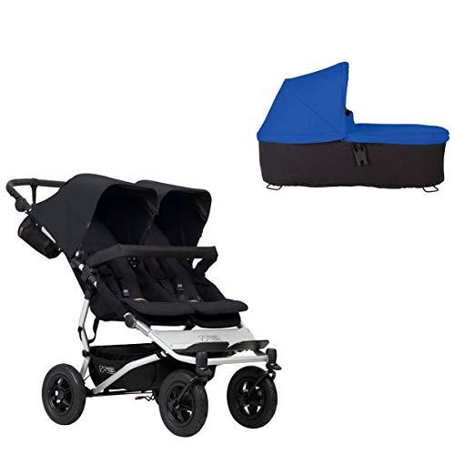 Ausstellungsstück Mountain Buggy duet buggy V3 als Doppelsitz-Buggy in der Farbe schwarz + 1 Babyschale in der Farbe marine