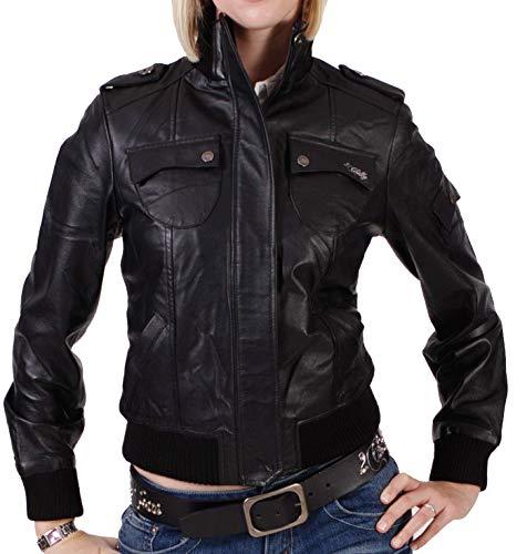 2chilly Paris damska kurtka skórzana czarna Blouson kurtka motocyklowa skóra rozm. XS, S, M