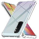 Ferilinso Hülle für Xiaomi Mi Note 10 Lite Hülle, [Version mit Vier Ecken verstärken] [Kamerapflegeschutz] Stoßfeste, weiche TPU-Silikonhülle aus Gummi für Xiaomi Mi Note 10 Lite Hülle (Transparent)