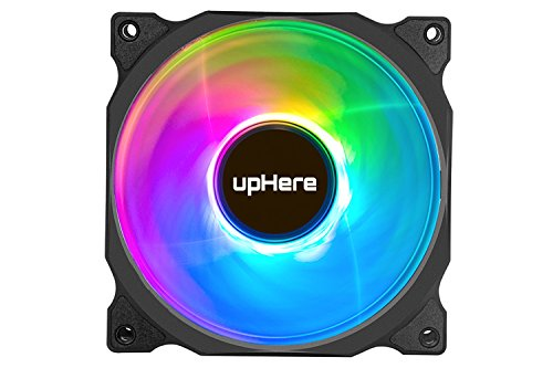 upHere Wireless RGB LED 120mm Case Fan,Quiet Edition High Airflow Adjustable Color LED Case Fan for PC Cases, CPU Coolers,Radiators System,5-Pack / C8123