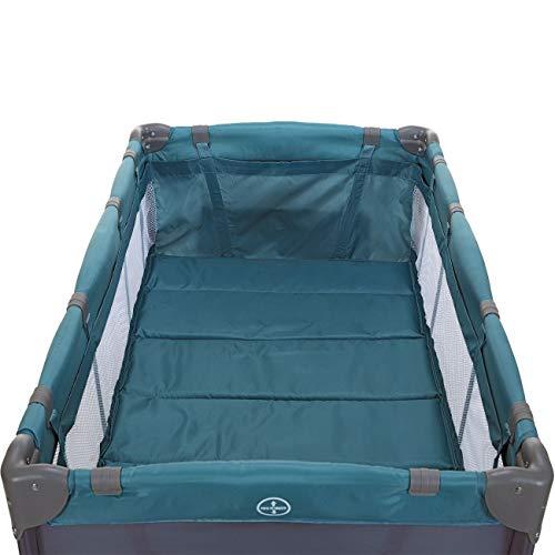 LCP Kids Baby-Reisebett 120×60 klappbar mit Neugeborenen Einlage Wickelauflage in Grün - 5