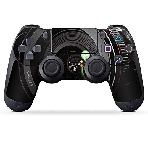 DeinDesign Skin kompatibel mit Sony Playstation 4 PS4 Controller Aufkleber Folie Sticker Spiegelreflex Objektiv Fotografie