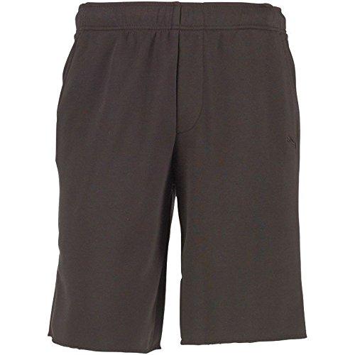 PUMA Black Sweat RAW Hem Gym Shorts- Large